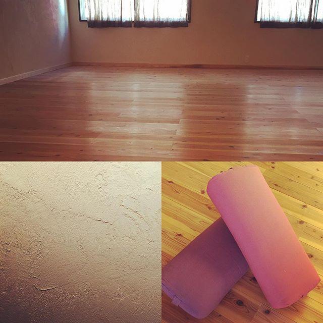 まさかの、スタジオ初写真!#すぎ無垢板#ホタテ漆喰#ゆだねる#気持ちいい