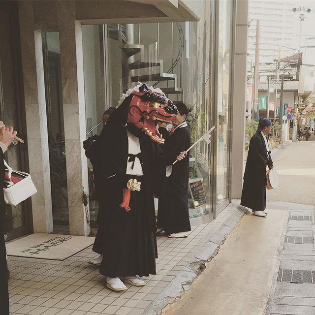 お獅子さん。#いちにちおくれ #草津幸せが訪れるね。お願いいたします。