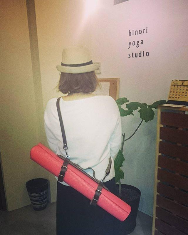 ヨガマットあります#ヨガマット#マットホルダー#カッコイイ#ヒノリヨガスタジオ#滋賀#草津