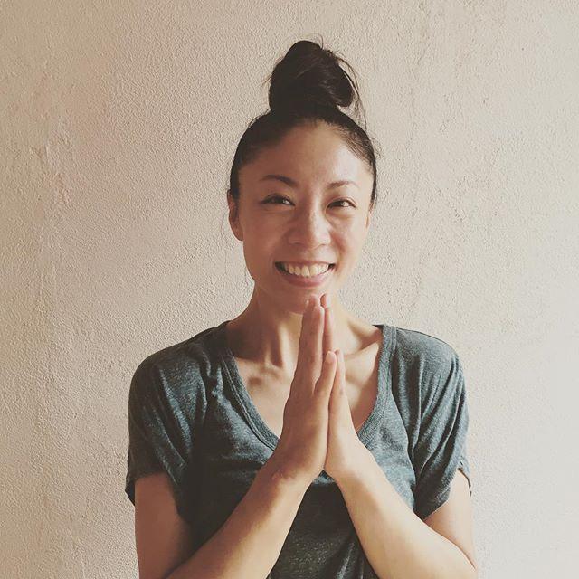 マグ先生8月から、レッスン入ってくれてます(*^_^*)外国人?とか男の人?とか聞かれますが、日本人のかわいい女の子です。#ヒノリヨガスタジオ #yoga #よろしくお願いします